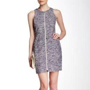McGinn Tweed Megan Zip Front Mid Length Dress